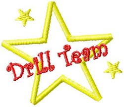 Drill Team Star embroidery design
