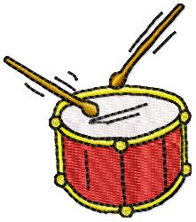 Free Drum Embroidery Design