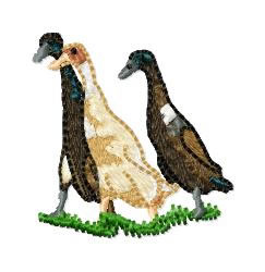 Three Ducks embroidery design