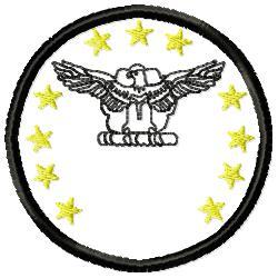 Eagle Badge 2 embroidery design