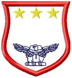 Eagle Badge 4 embroidery design