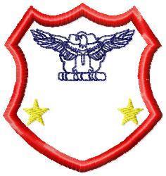 Eagle Badge 5 embroidery design