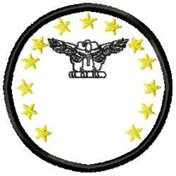 Eagle Badge 1 embroidery design