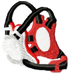 Ear Guard - Wrestling embroidery design