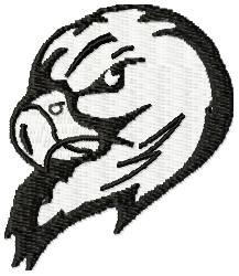 Falcon Mascot embroidery design