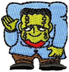 Frankenstein embroidery design