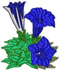 Gentian embroidery design