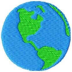 Globe embroidery design
