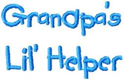 Grandpas Lil Helper Sm embroidery design