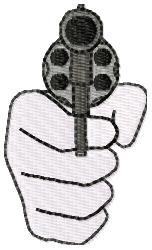 Pointed Gun embroidery design