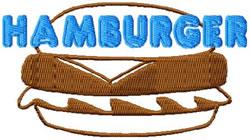 Hamburger embroidery design
