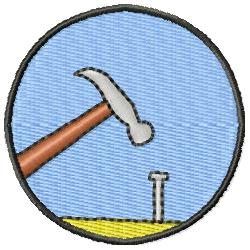 Hammer & Nail embroidery design