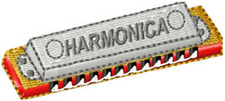 Harmonica embroidery design