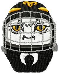 Cat Hockey Mask embroidery design