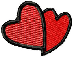 Hearts 2 embroidery design