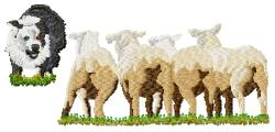 Sheep Herding embroidery design