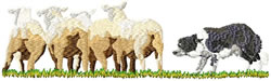 Sheep Herding 2 embroidery design