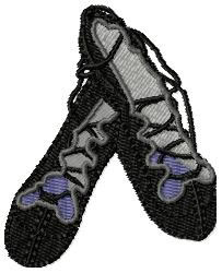 Highland Dance Shoes embroidery design