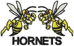 Hornets 3 embroidery design