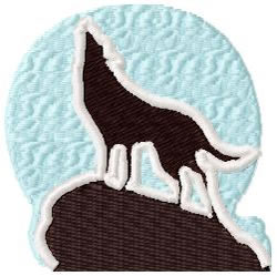 Wolf Howling embroidery design