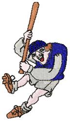 Hunchback Ball Player embroidery design