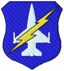 Jet Badge embroidery design