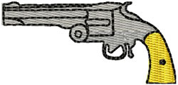 Hand Gun embroidery design