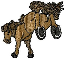 Kicking Horse embroidery design