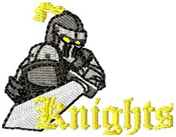 Knights 1 embroidery design