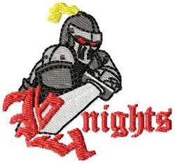 Knights 3 embroidery design