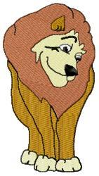 Cartoon Lion embroidery design