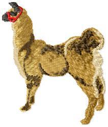 Llama embroidery design