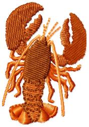 Lobster embroidery design