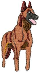 Malinois Dog embroidery design