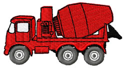 Cement Mixer Truck embroidery design
