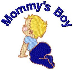 Mommys Boy 2 embroidery design