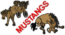 Mustang 5 embroidery design