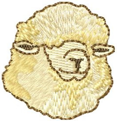 Sheep Head embroidery design