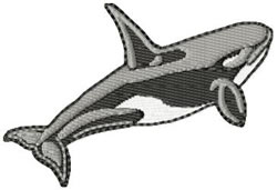 Orca Whale embroidery design