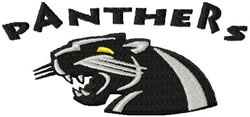 Panthers 3 embroidery design