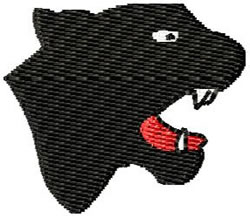 Panther Head embroidery design