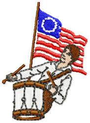 Independence Flag embroidery design