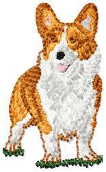 Pembroke Corgi embroidery design