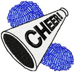 Cheer Megaphone embroidery design