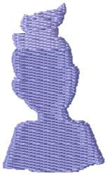 Pony Tail Girl embroidery design