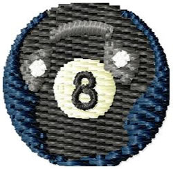 Pool 8 Ball embroidery design