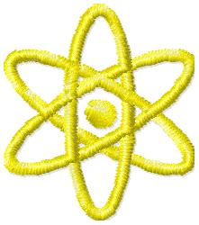 Proton Symbol embroidery design