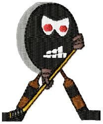 Puck Man embroidery design