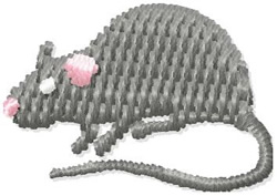 Small Rat embroidery design