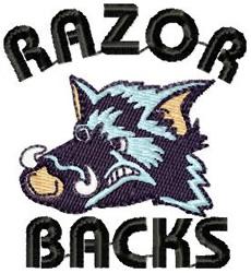 Razor Backs embroidery design